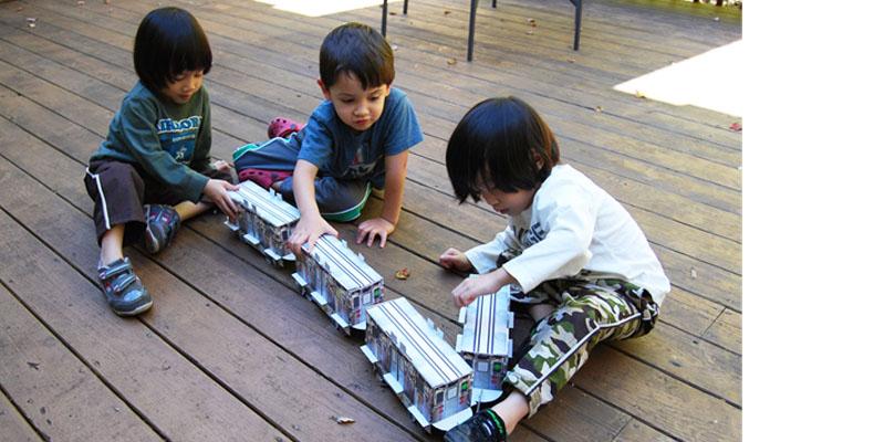 Cardboard Train Set by Urban Canvas