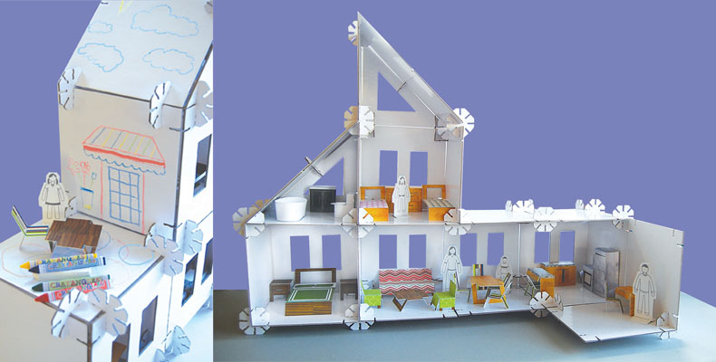 A Modular Dollhouse That Can Be Built Into Any Dolllhouse Form