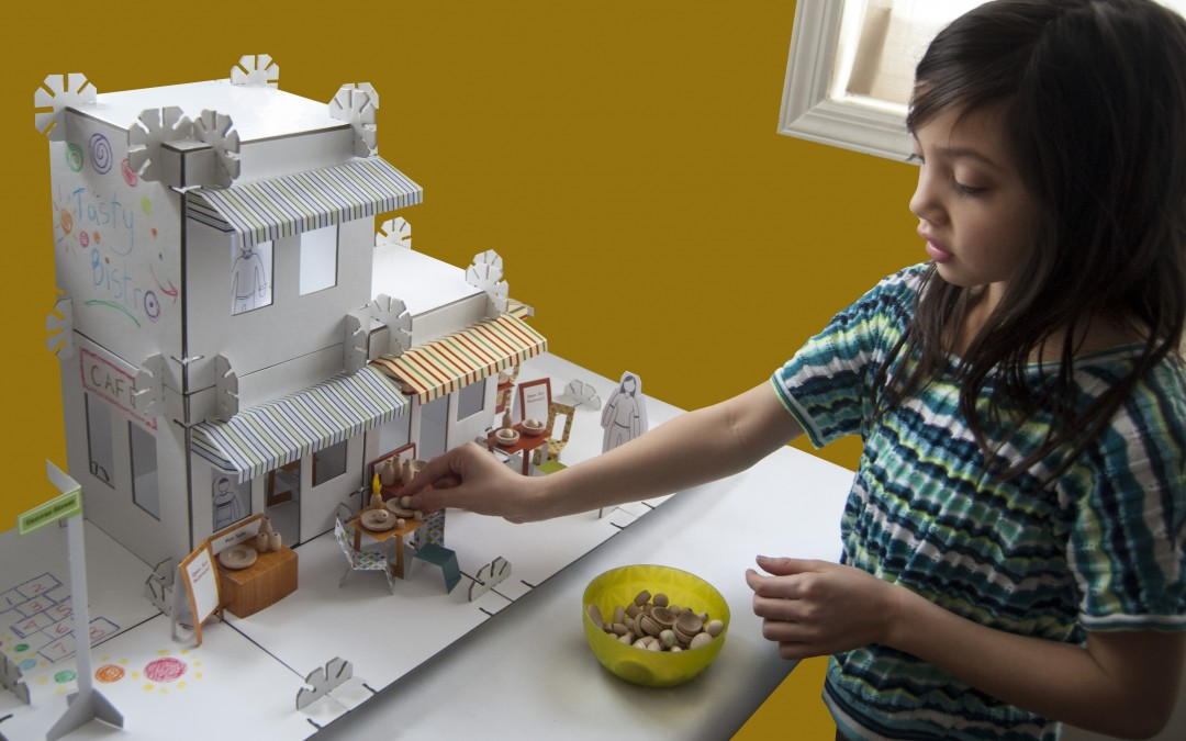 Our Mod House is one of the coolest Dollhouse Kits!