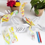 A paper sculpture set that is fun for kids who love arts and crafts.
