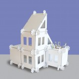 A modular dollhouse that can be built into any form.