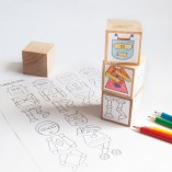 Fun robot blocks that can be decorated with stickers.